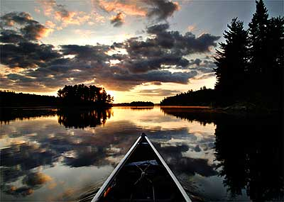 Solo Canoe in the Boundary Waters
