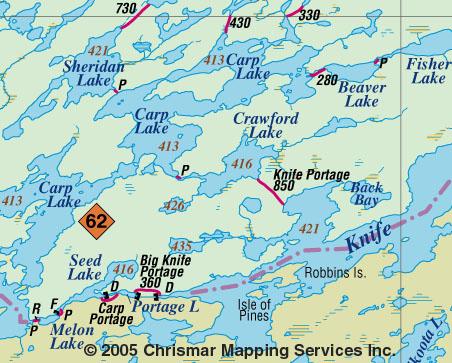Quetico Canada Map Quetico Park Map